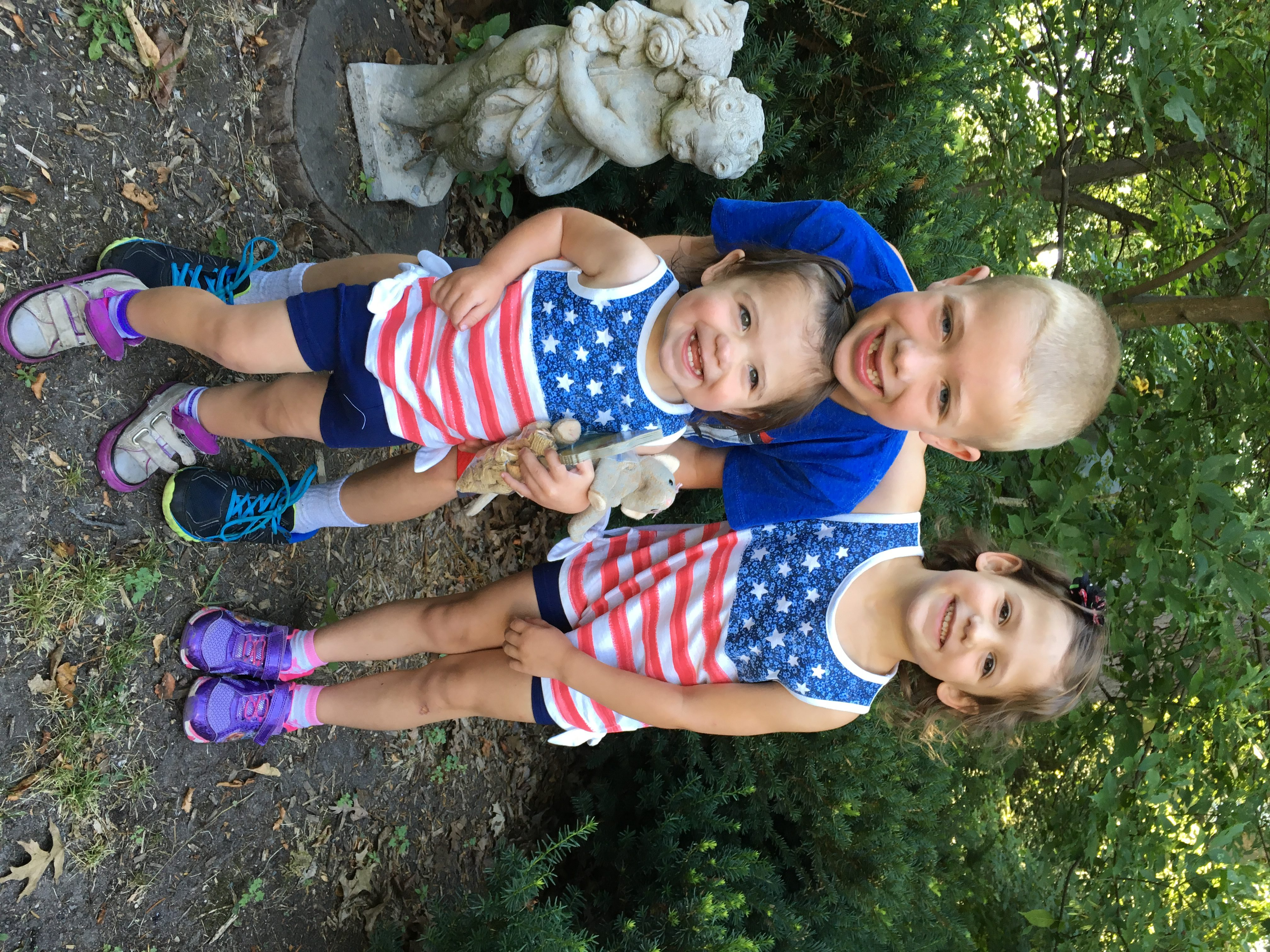 Our 4th of July fun… Crafts. Kids' parade. Hot dog bar.
