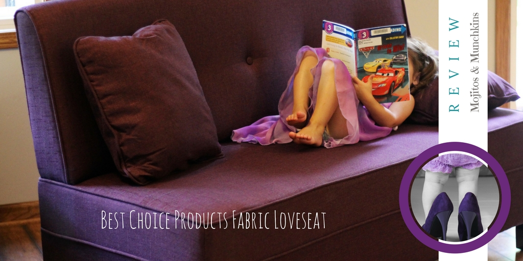 Review:: Fabric Loveseat Sofa with Pillows in Purple from Best Choice Products